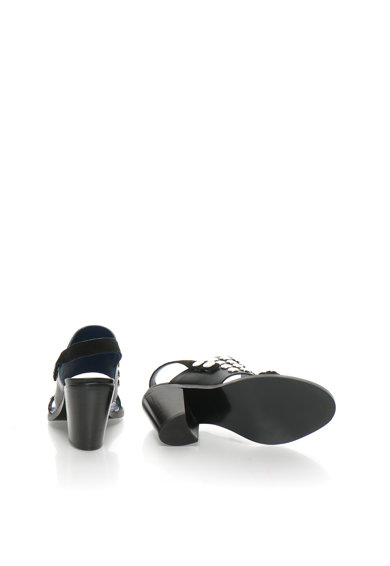 Diesel Черни кожени сандали с капси Жени