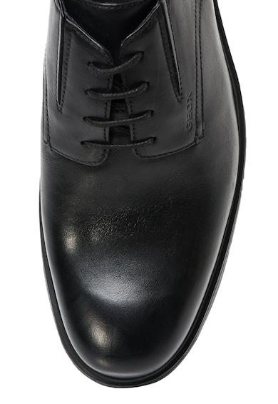 Geox Pantofi negri din piele Dublin Barbati