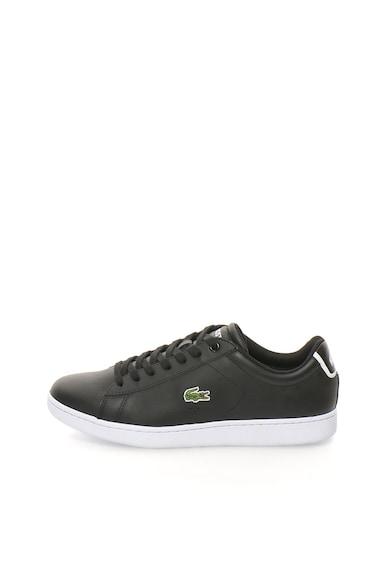 Lacoste Pantofi sport negri cu garnituri de piele Carnaby Barbati