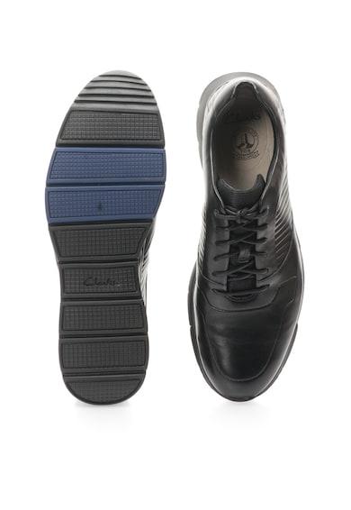 Clarks Pantofi casual sport negri de piele Tynamo Race Barbati