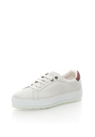 Diesel Светлосиви кожени спортни обувки Жени