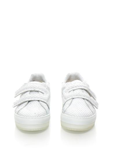 Diesel Pantofi sport albi cu model reptila S Andyes Femei