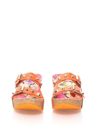 Oakoui Papuci wedge oranj Jany Femei
