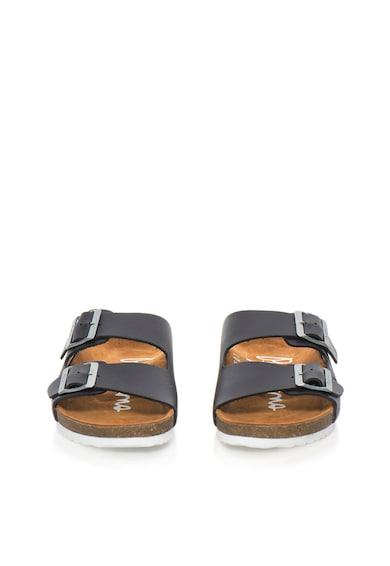 Pepe Jeans London Кожени чехли в тъмно индиго Мъже