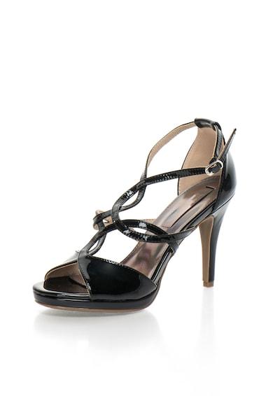 Xti Sandale negre lacuite Femei