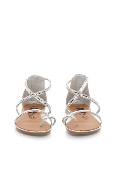 Xti Sandale argintii cu strasuri Femei