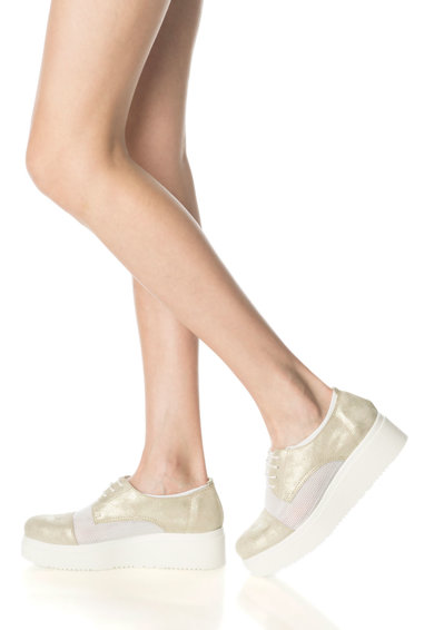 Zee Lane Pantofi wedge de piele si plasa Femei