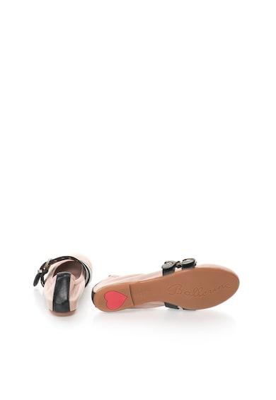 Zee Lane Milva Púder Rózsaszín Bőrcipő Fekete Részletekkel női