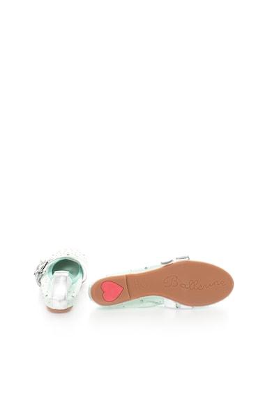 Zee Lane Milva Mentazöld&Ezüstszín Bőrcipő Szegecsekkel női