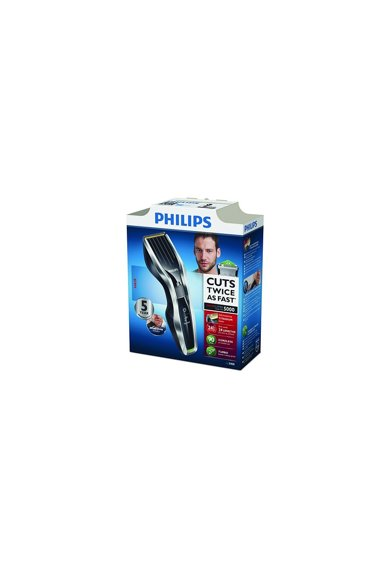 Philips Aparat de tuns  HC5450/80, Acumulator, 0.5-23 mm, 24 Trepte, Lame din titan, Pieptene pentru barba, Negru/Argintiu Barbati