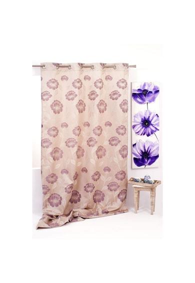 Mendola Home Textiles Перде Izolde  140x245 см, Бежово/Лилаво Жени