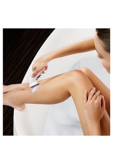 Braun Epilator  SE9-961V Wet&Dry SkinSpa Legs&Body, 40 de pensete, acumulator, 12 accesorii, Alb/Auriu Femei