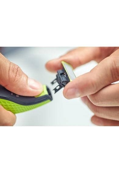 Philips Rezerve OneBlade QP210/50, compatibil OneBlade si OneBladePro, 1 rezerva, Verde Barbati