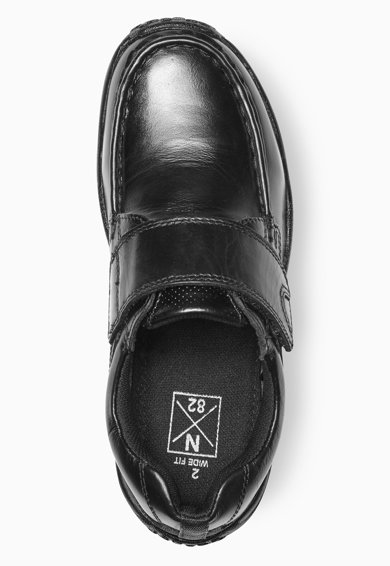 NEXT Fiú Fekete Bőrcipő Tépőzárral Fiú