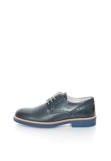 Zee Lane Pantofi brogue albastru petrol de piele Barbati