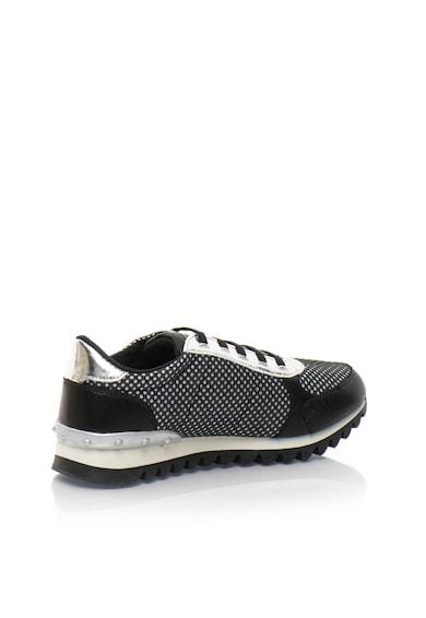 Fiorucci Fekete & Ezüstszín Hálós Anyagú Cipő női