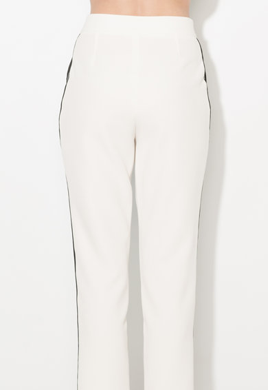 Zee Lane Collection Pantaloni crop albi cu vipusca Femei