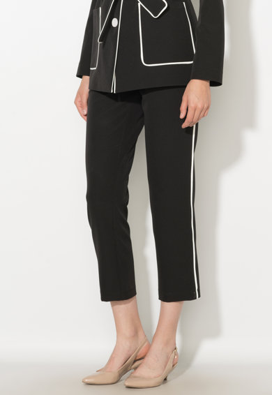 Zee Lane Collection Pantaloni crop negri cu vipusca Femei