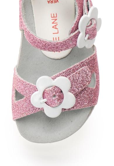 Zee Lane Sandale roz de piele cu particule stralucitoare Ariel Fete