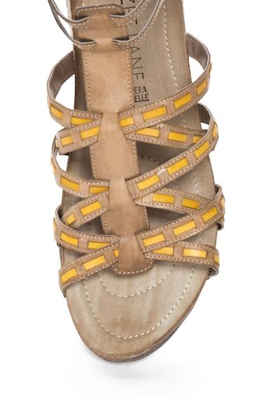 Zee Lane Кожени сандали с каишка на глезена Жени