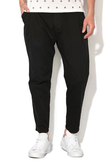 Zee Lane Denim Pantaloni jogger crop negri Barbati