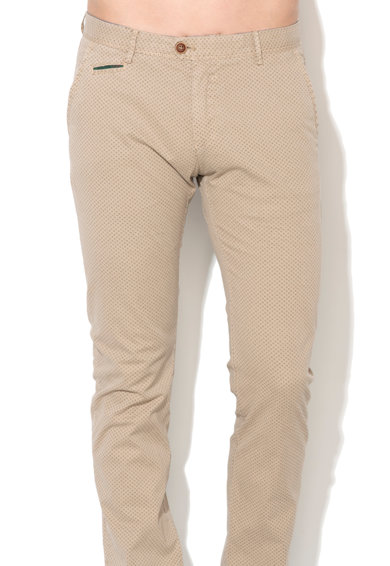 Zee Lane Denim Pantaloni chino bej cu model floral Barbati