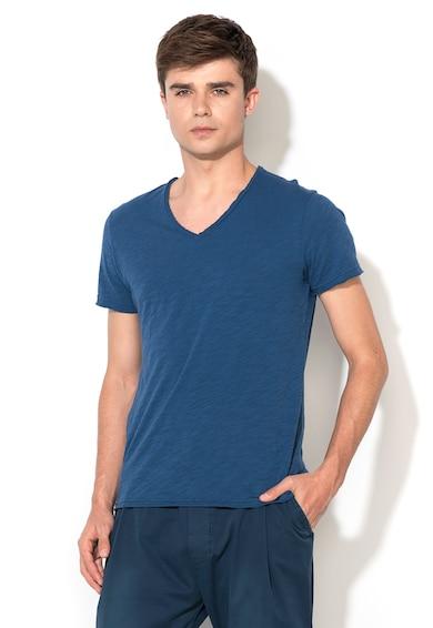 Zee Lane Denim Тениска в син меланж с незавършен подгъв Мъже
