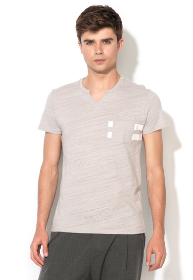 Zee Lane Denim Сива тениска с шпиц деколте Мъже