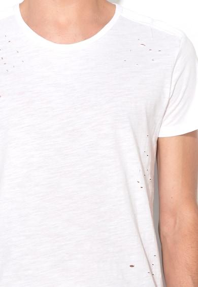 Zee Lane Denim Tricou alb cu aspect deteriorat Barbati