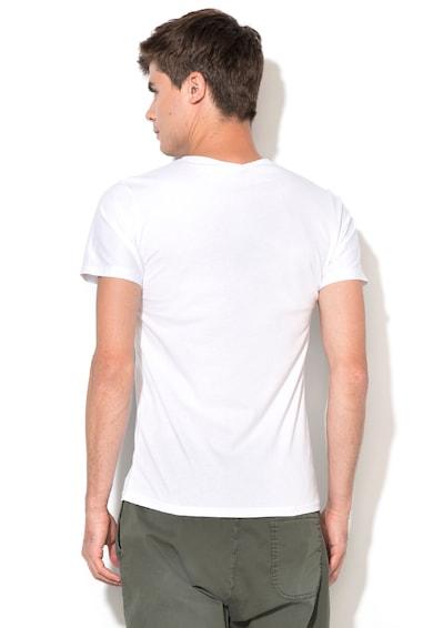 Zee Lane Denim Бяла тениска с шарка на бухали Мъже