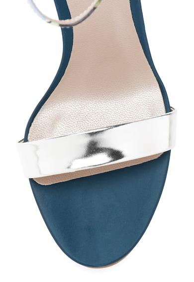 Roberto Botella Сандали в сребристо и сини нюанси с висок ток Жени