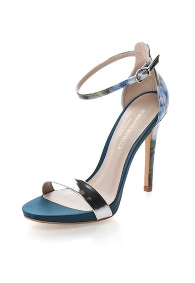 Roberto Botella Sandale argintiu cu doua nuante de albastru si toc inalt Femei
