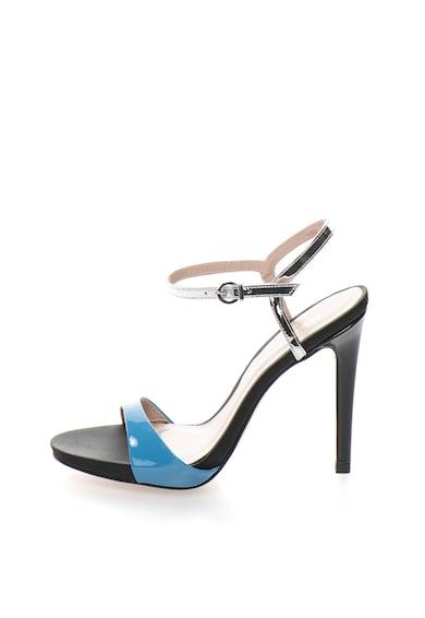 Roberto Botella Лачени сандали в синьо и сребристо Жени