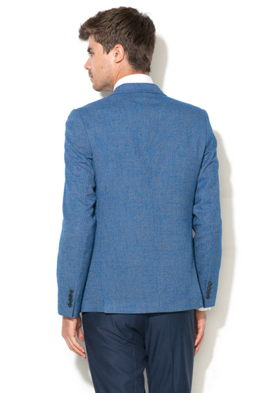Zee Lane Collection Sacou albastru cu model houndstooth Barbati