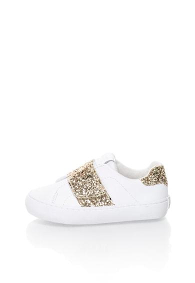Gioseppo Детски спортни обувки в бяло и златисто с брокат Момичета