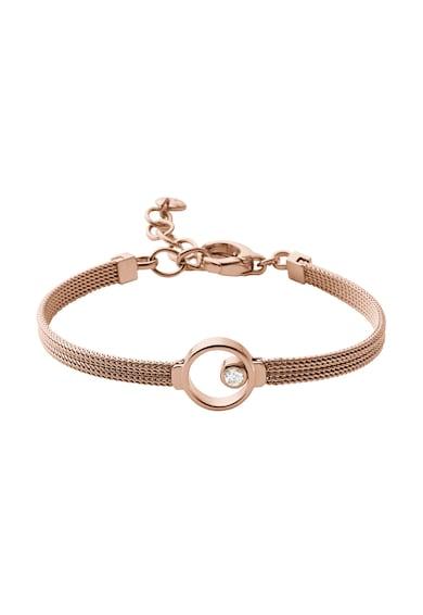 Skagen Розово-златиста гривна с морско стъкло Жени