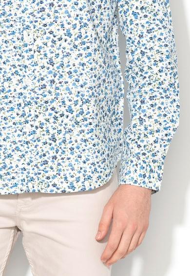 BRAVE SOUL Риза в бяло и синьо с флорален десен Мъже