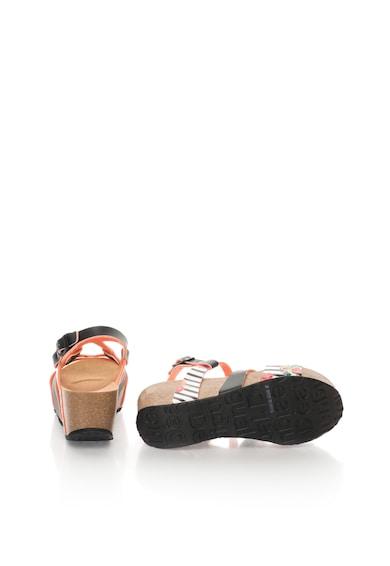 DESIGUAL Sandale wedge cu model floral Femei