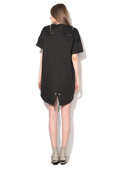 Diesel Black Gold Черна рокля със свободен дизайн Жени
