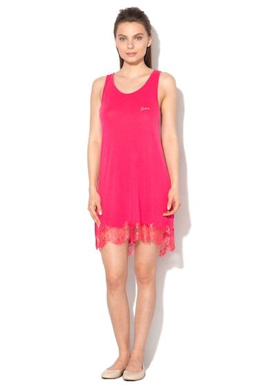 Guess Camasa de noapte roz inchis cu garnituri de dantela Femei
