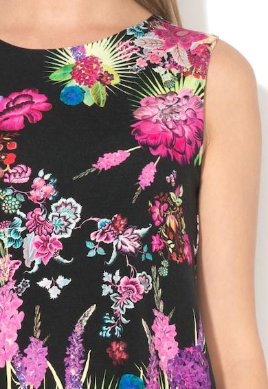 DESIGUAL Top negru cu imprimeu si decupaj pe partea din spate Marzo Femei