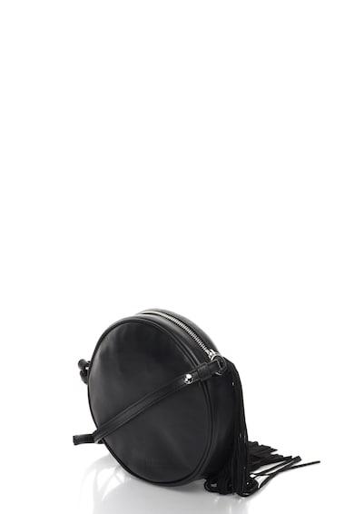 JUST CAVALLI Кръгла кожена чанта с ресни и щампа n/a Жени