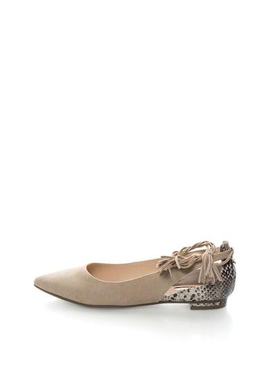 Guess Pantofi bej infasurabili cu imprimeu sarpe Femei