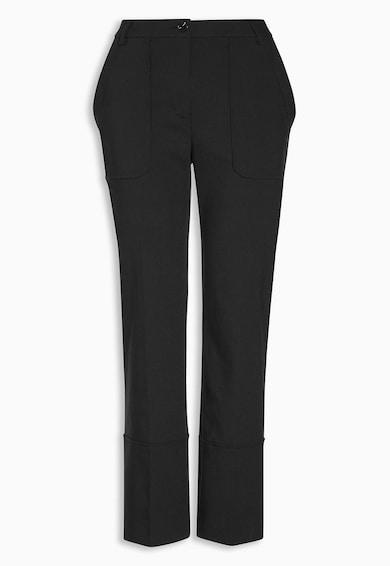 NEXT Pantaloni crop negri cu buzunare Femei