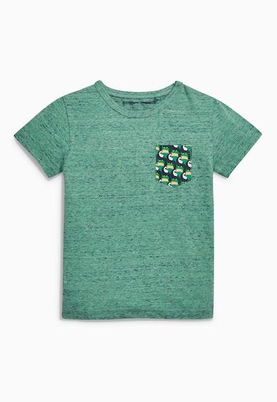 NEXT Set de tricou si pantaloni scurti verde cu bleumarin Baieti