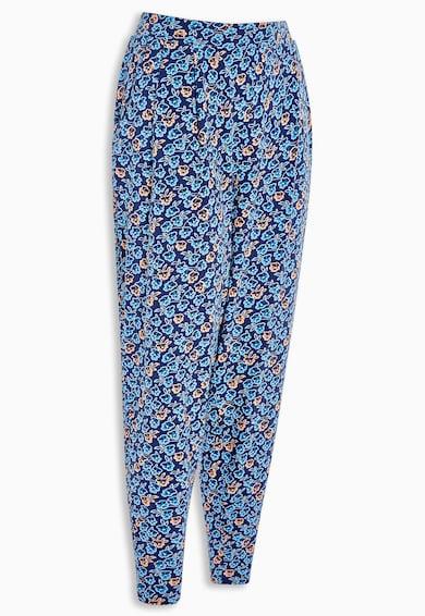 NEXT Pantaloni in nuante de albastru cu imprimeu floral Femei