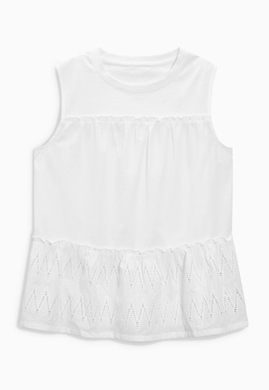 NEXT Top alb cu garnituri crosetate Femei