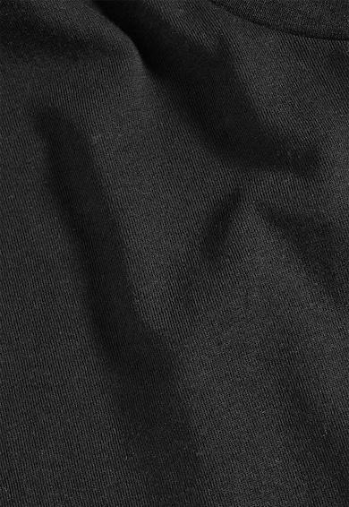 NEXT Tricou negru cu decolteu la baza gatului Barbati