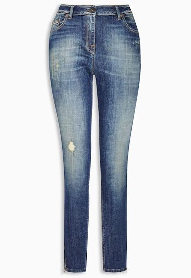 NEXT Jeansi skinny albastri cu fermoar pe glezna Femei