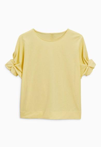 NEXT Tricou galben pai cu maneci rasucite Femei